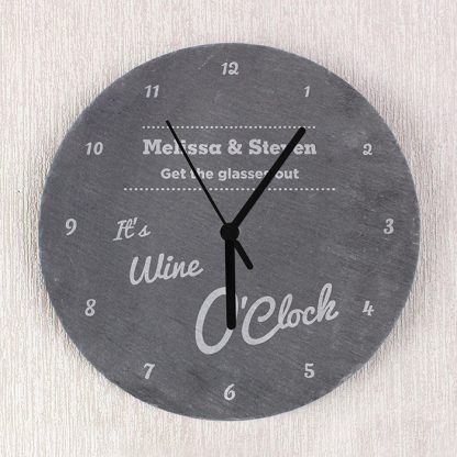 Personalised OClock Slate Wall Clock