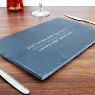 Personalised Classic Rectangle Slate Placemat