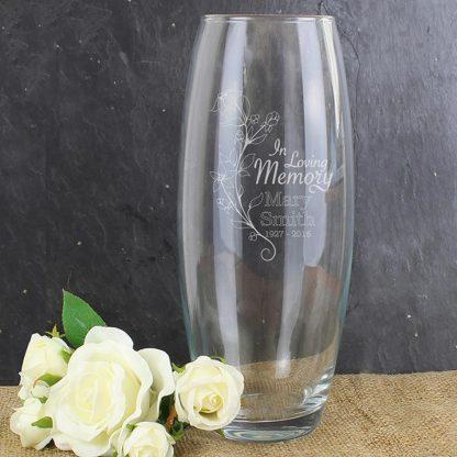 Personalised In Loving Memory Vase