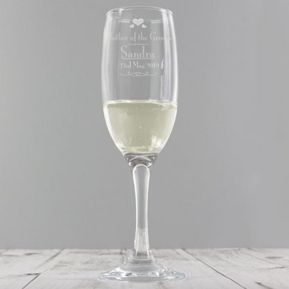 Personalised Decorative Wedding Mother of the Groom Champagne Flute