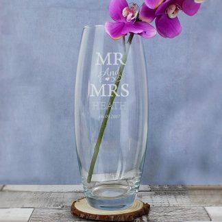 Personalised 'Mr & Mrs' Bullet Vase