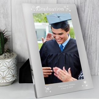 Personalised Graduation Silver 5x7 Photo Frame