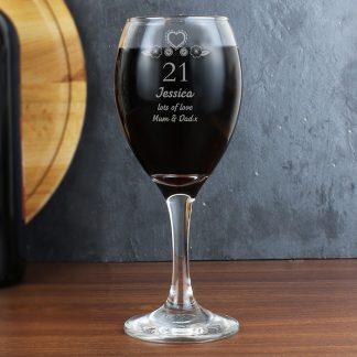 Personalised Birthday Craft Wine Glass
