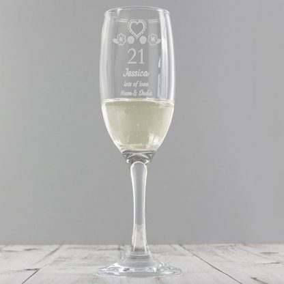 Personalised Birthday Craft Champagne Flute
