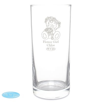 Personalised Me To You Engraved Wedding Girl Hi Ball Glass