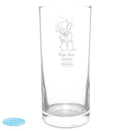 Personalised Me To You Engraved Wedding Boy Hi Ball Glass