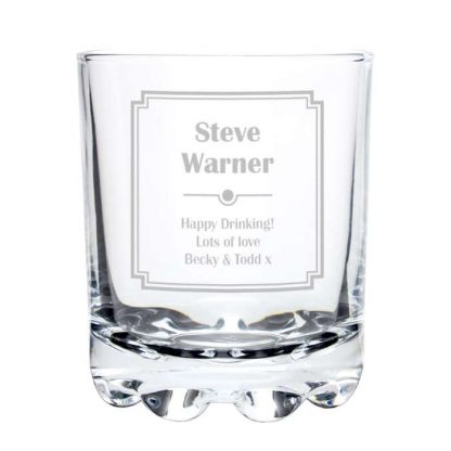 Personalised Art Deco Whisky Glass