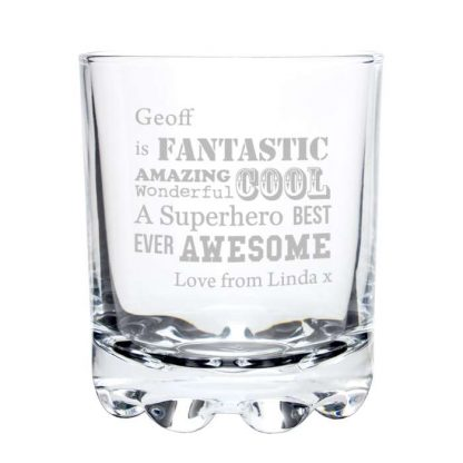 Personalised He Is... Whisky Glass