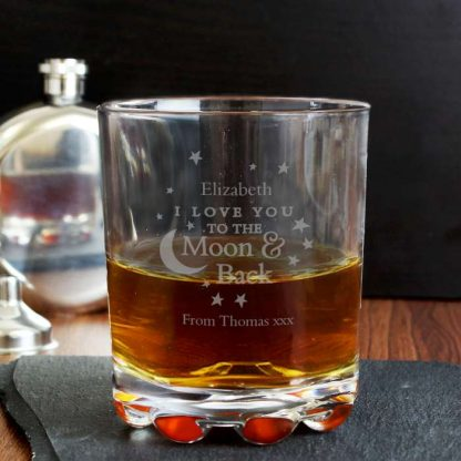 Personalised To the Moon and Back... Whisky Glass