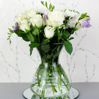 Personalised Glass Bouquet Vase