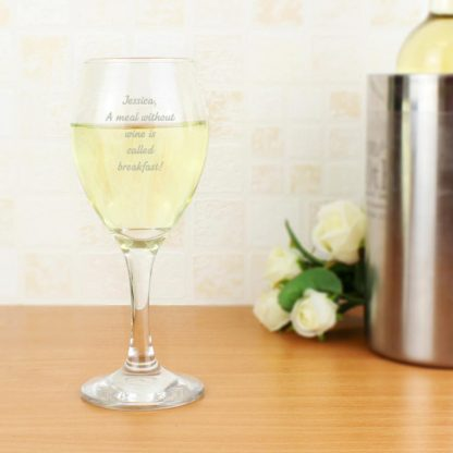 Personalised Message Wine Glass