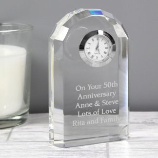 Personalised Crystal Clock