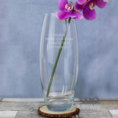 Personalised Tapered Bullet Glass Vase