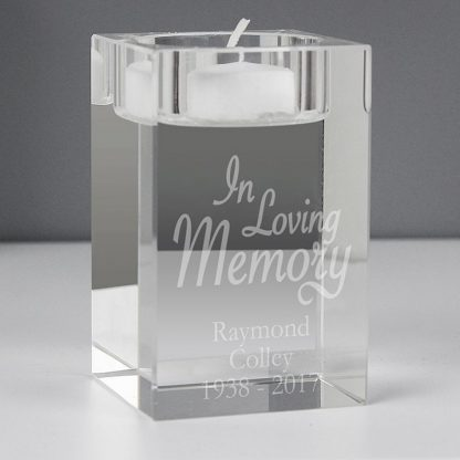 Personalised In Loving Memory Tealight Holder