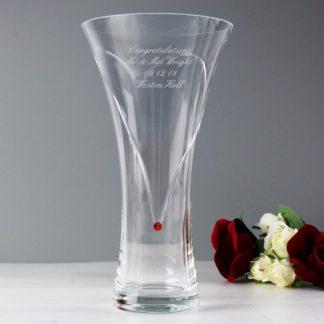 Personalised Ruby Swarovski Infinity Vase