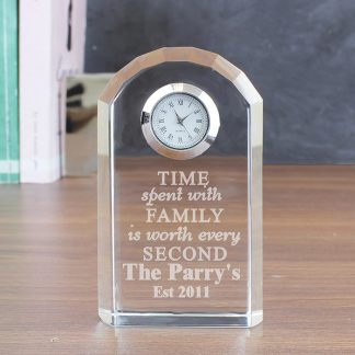 Personalised Family Crystal Clock
