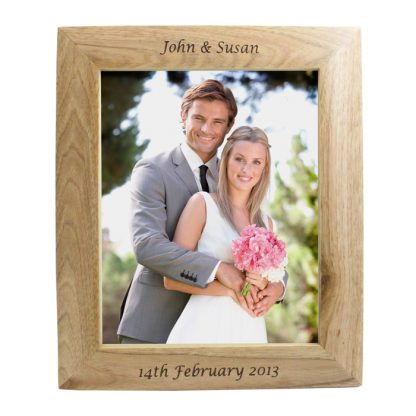 Personalised 10x8 Wooden Photo Frame