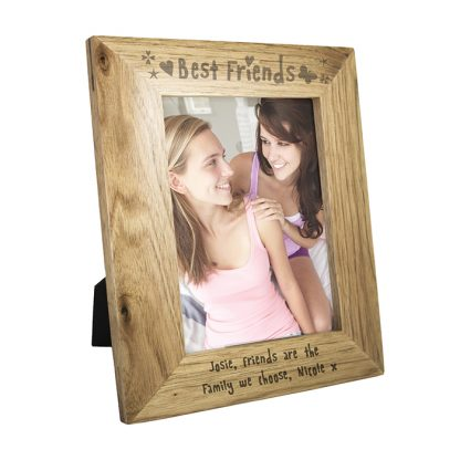 Personalised 7x5 Best Friends Wooden Photo Frame