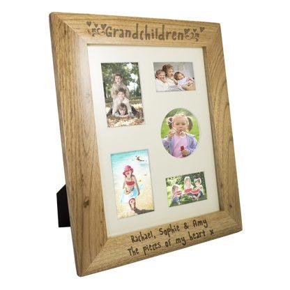 Personalised 10x8 Grandchildren Wooden Photo Frame