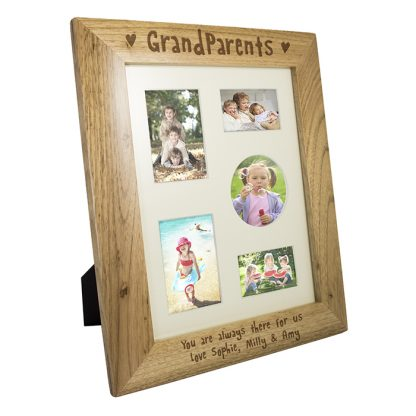 Personalised 10x8 Grandparents Wooden Photo Frame