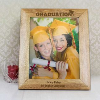 Personalised 10x8 Graduation Wooden Photo Frame