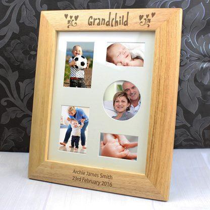 Personalised 10x8 Grandchild Wooden Photo Frame