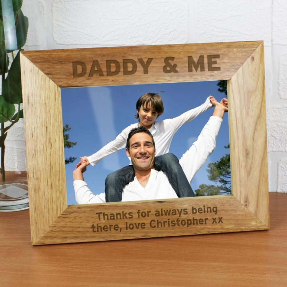 6637d7d6cff Personalised Bold Text 7x5 Wooden Photo Frame - Just The Right Gift
