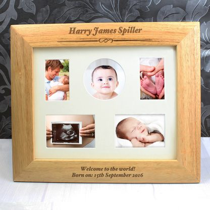 Personalised 10x8 Landscape Wooden Photo Frame