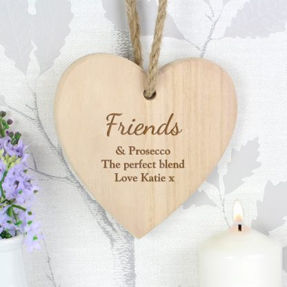 Personalised Chunky Wooden Heart Decoration
