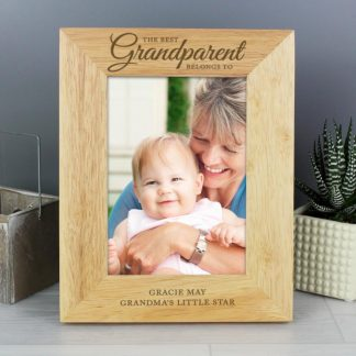 Personalised 'The Best Grandparent' 5x7 Wooden Photo Frame