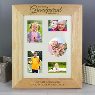 Personalised 'The Best Grandparent' 8x10 Wooden Photo Frame