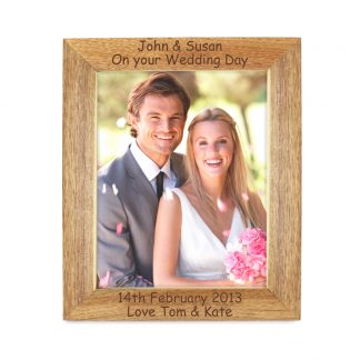 Personalised Wooden 7x5 Photo Frame