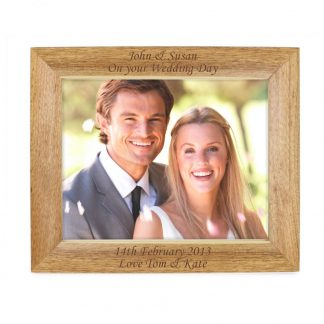 Personalised Landscape 10x8 Wooden Photo Frame