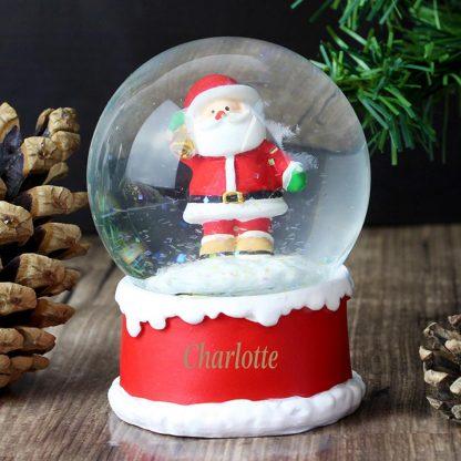 Personalised Santa Any Name Snow Globe
