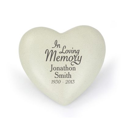 Personalised In Loving Memory Heart Memorial Stone