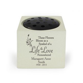 Personalised Life & Love Memorial Vase