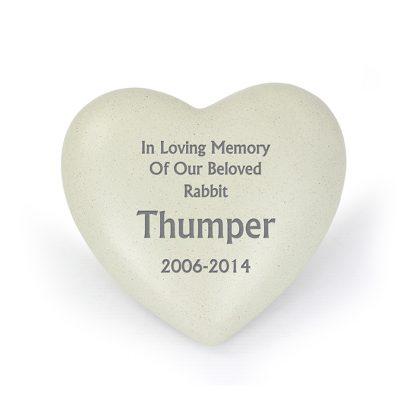 Personalised Heart Memorial