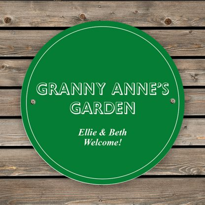 Personalised Green Wall Sign
