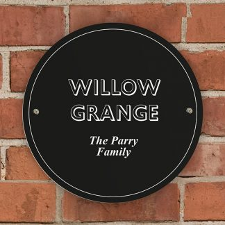 Personalised Black Wall Sign