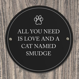 Personalised Paw Prints Pet Sign