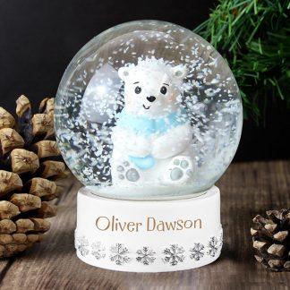 Personalised Polar Bear Any Name Snow Globe
