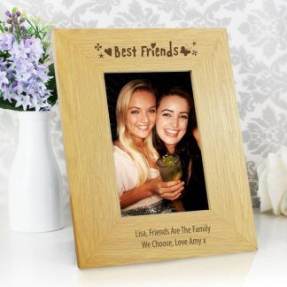 Personalised Oak Finish 6x4 Best Friends Photo Frame