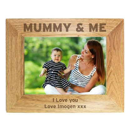 Personalised 'Mummy & Me' 7x5 Wooden Photo Frame