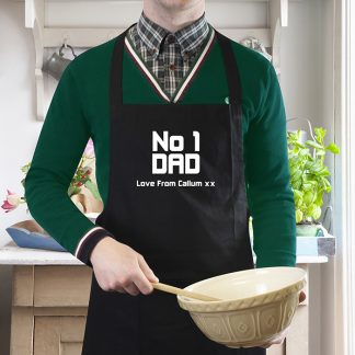 Personalised No 1 Dad Apron