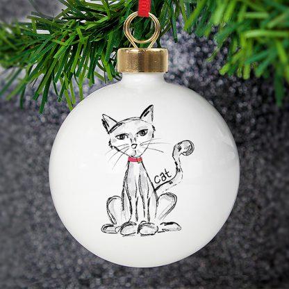 Personalised Cat Bauble
