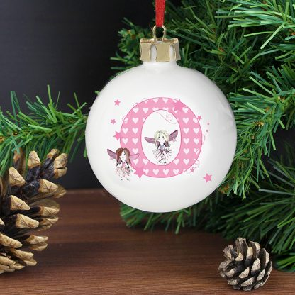 Personalised Fairy Letter Bauble