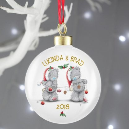 Personalised Me to You Christmas Couple's Bauble