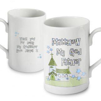 Personalised Whimsical Church Godfather Slim Mug