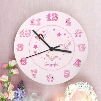 Personalised Fairy Wooden Wall Clock