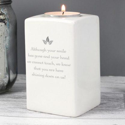 Personalised Sentiments Ceramic Tea Light Candle Holder